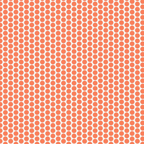 Orange polka dots on white by Su_G