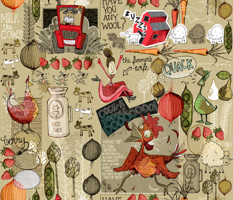 Farm Fiasco fabric by mulberry_tree on Spoonflower - custom fabric