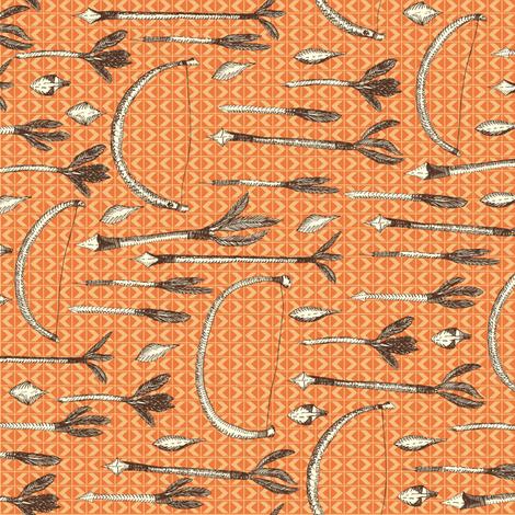 An Adventurer's Own Archery Set in the Desert - Textured Orange