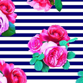 Blooms on Sailor Stripes