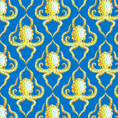 Blue Ring Octopus Quarterfoil