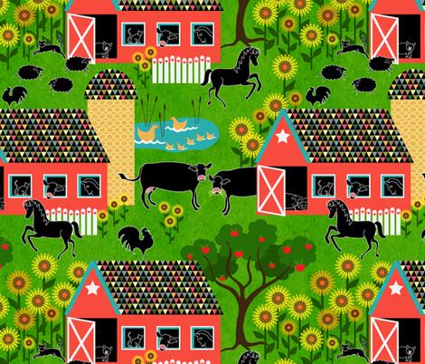 I spy with my little eye ~ farm animals fabric by vo_aka_virginiao on Spoonflower - custom fabric