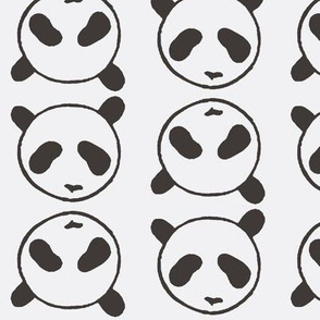 Panda, bear, black, grey, kids, ellan, animal