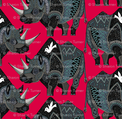 rhinoceros red