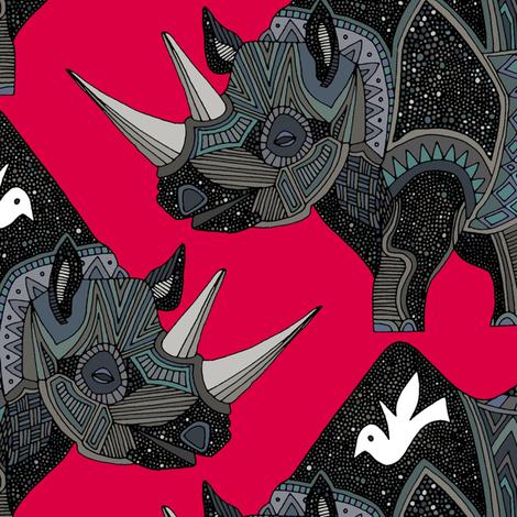 rhinoceros red fabric by scrummy on Spoonflower - custom fabric