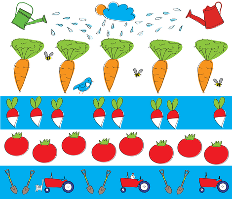 Veggies_in_the_making fabric by sollan on Spoonflower - custom fabric