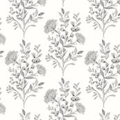 Hackney & Co Nouveau Floral White