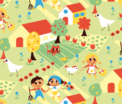 50's farming fabric by lisahilda on Spoonflower - custom fabric