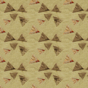 Stitched Handmade Paper Triangles