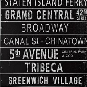 NYC Subway Signs - Urban Typography
