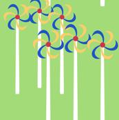 Wind turbines, colored blades by Su_G