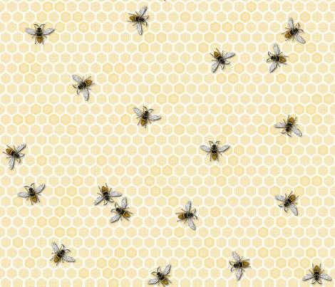 Honey, a Bee Farm! fabric by juliesfabrics on Spoonflower - custom fabric