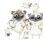 Pugs Family Portrait