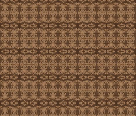 Lacy Brown Fractal Stripe
