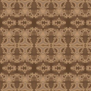 Lacy Brown Fractal Stripe