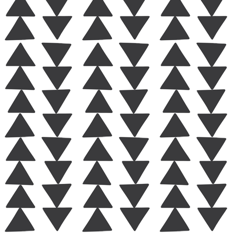 Charcoal triangle chain  fabric by coramaedesign on Spoonflower - custom fabric