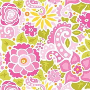 Fuchsia Doodly Flowers