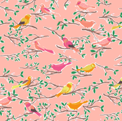 Sweet Songbirds in Pink