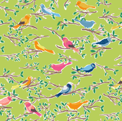 Sweet Songbirds in Green