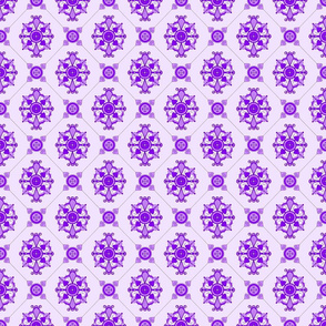 Elegant Purple Medallion Pattern
