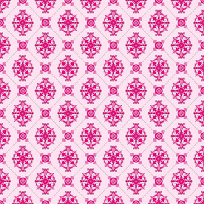 Elegant Pink Medallion Pattern