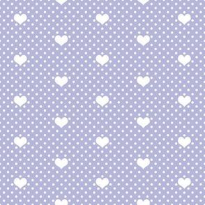 Polka Dot Heart Lavender