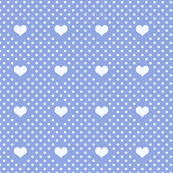 Polka Dot and Heart Lavender