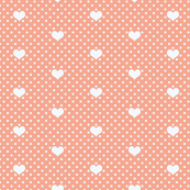 Polka Dot and Heart Coral