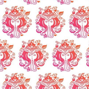Ganesh elephant india theme illustration pattern