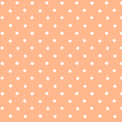 polka dot - white on apricot pink