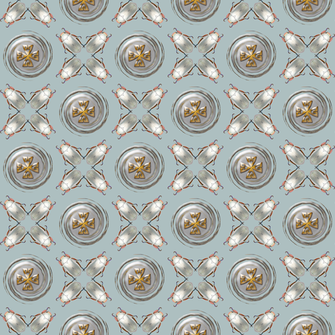 silver scarab medallion fabric by keweenawchris on Spoonflower - custom fabric