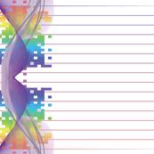 Pixel Rainbow Pinstripe Border Print