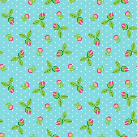 Ditsy Dot Floral fabric by joannepaynterdesign on Spoonflower - custom fabric