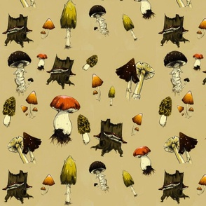 Mushrooms on Parchment