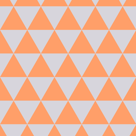 Tangerine - Light Lilac Triangles