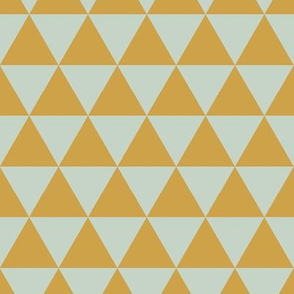 Gold - Minty Triangles