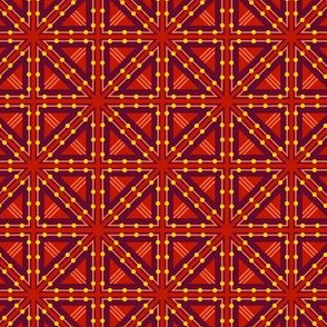 Kolonaki Triangles - Red