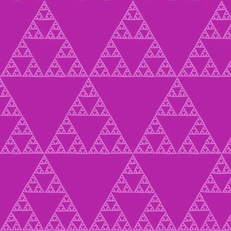 Sierpinski Triangle - orchid fabric by weavingmajor on Spoonflower - custom fabric