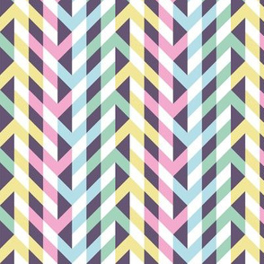 Pastel rainbow arrows of illusion
