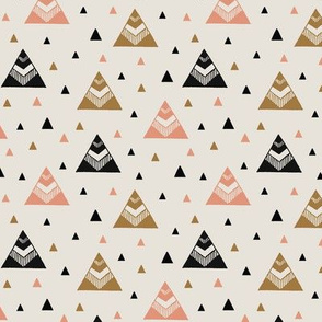 Chevron Triangles Gold - Pink
