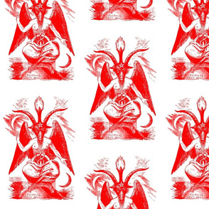 baphomet red on white