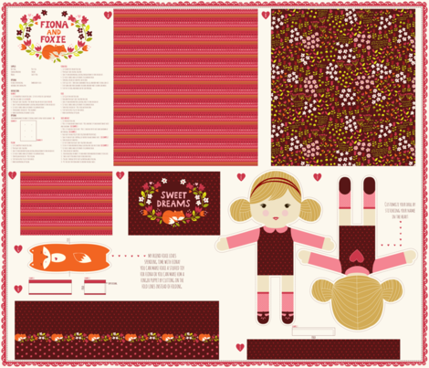 1_yard_doll_template_Fiona_option_2 fabric by stacyiesthsu on Spoonflower - custom fabric