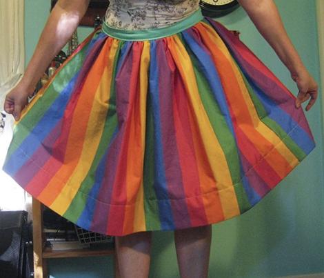 "Gay Pride Rainbow 2"" stripes"