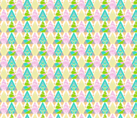 Tribal Triangles fabric by joannepaynterdesign on Spoonflower - custom fabric
