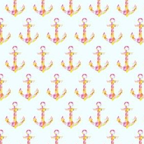 Pale Blue Geometric Anchor