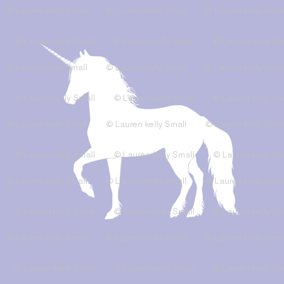 Prancing Unicorn on Lavender