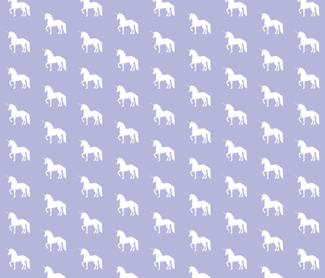 Prancing Unicorn on Lavender fabric by thistleandfox on Spoonflower - custom fabric