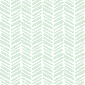 mint painted herringbone