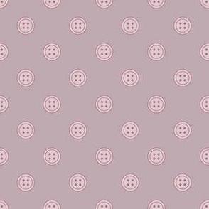 Button Polka Dots Lavender on Dusty Purple