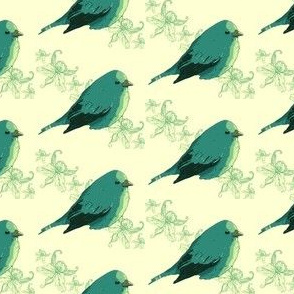 Teal Birdie Tile